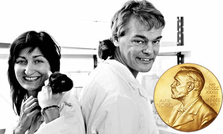 Professors May-Britt Moser and Edvard Moser at the Norwegian University of Science and Technology have been awarded the Nobel Prize for 2014 in Physiology or Medicine. Photo: Geir Morgen.