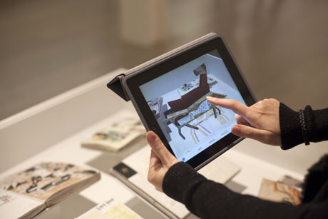 Figure 1: The AR application in the exhibition.