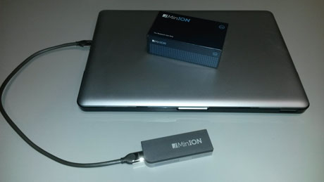Figure 1: USB-sized Nanopore MinION.