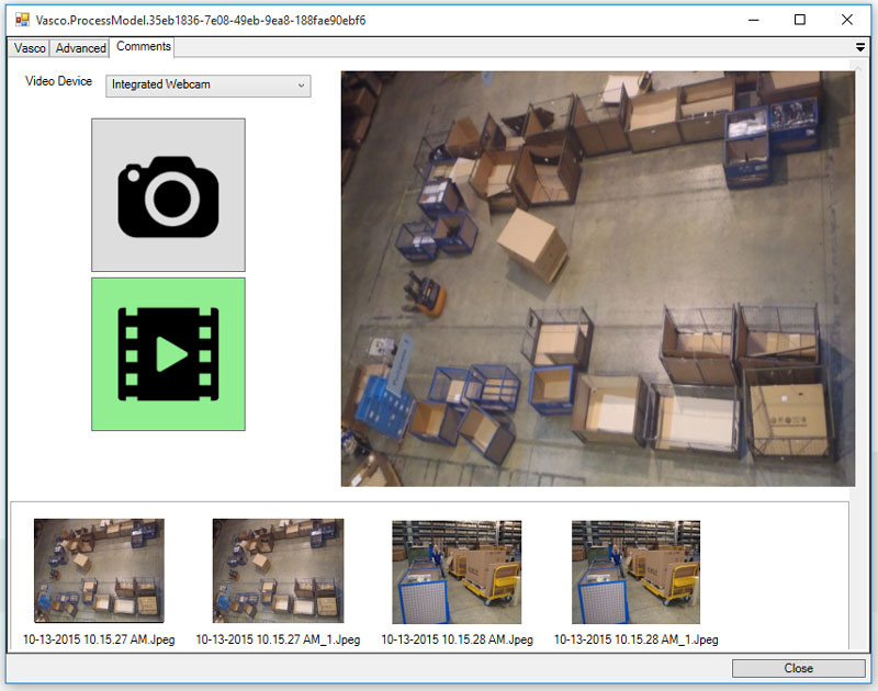 Figure 3: Annotating the VSM with images/videos/comments taken during the acquisition at the production place.