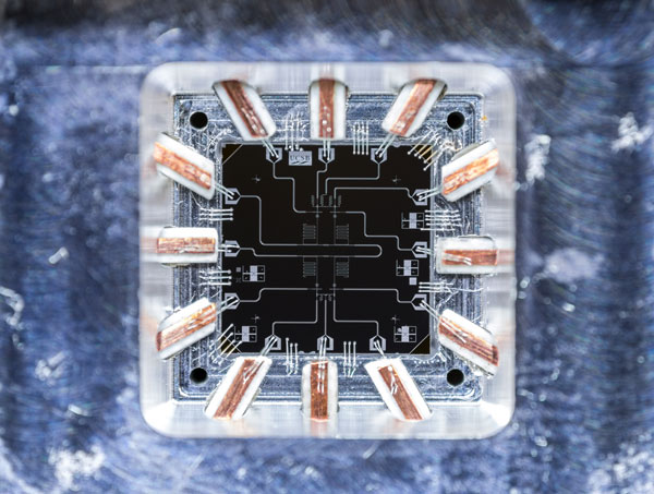 Superconducting Quantum Circuit. Photo: Michael Fang, Martinis Lab (UCSB and Google)