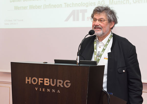 Erwin Schoitsch giving a talk.