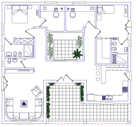 Figure 1: Preliminary layout of the demonstration building.