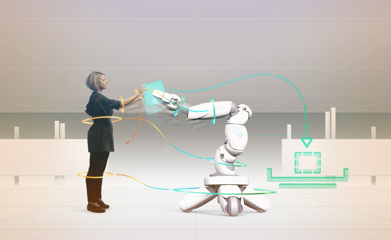 In the interdisciplinary research project Cobot Studio, a virtual simulation environment for trustworthy human-robot collaboration is being developed.