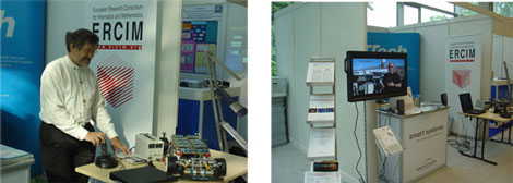 ERCIM at the Smart Systems/ TTTech Booth at the ARTEMIS Conference Exhibition, Graz 2006.