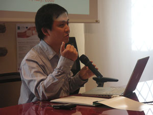 Invited lecturer James Wang from  Pennsylvania State University.