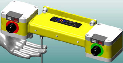 Figure 3: Laser Light Section System, example for mobile robot application.