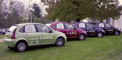 Figure 1: REACT sensor vehicles (4 LaRA C3).
