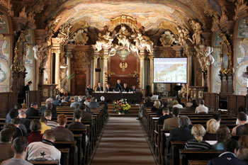 The Aula Leopoldina in the main building of the Wroclaw University.