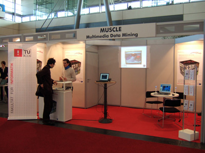 MUSCLE booth at CeBit.