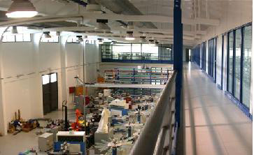 The IPP Factory - production line and control deck.