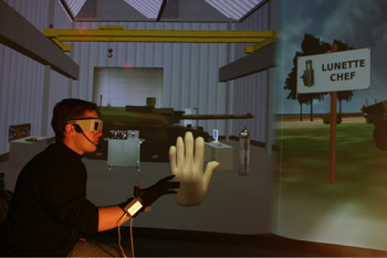 Figure 1: GVT in an immersive room.