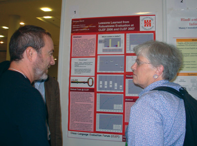 Poster session at CLEF 2007.
