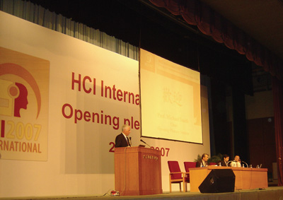 The Opening Plenary Session of HCI International 2007.