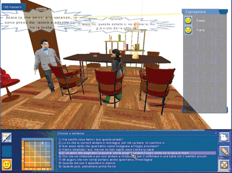 Figure 1: A SISINE role-play game session with two players.