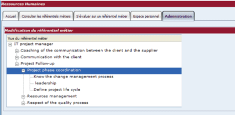 Figure 4: HR module screen shot.