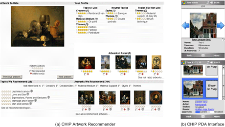 Figure 2: iFanzy Web interface.