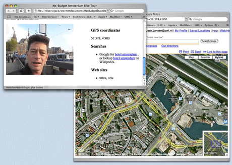 Figure 1: Screenshot of the e-tourism scenario.