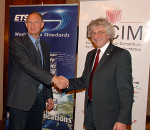 Walter Weigel, ETSI Director-General (left) and Keith Jeffery, ERCIM President
