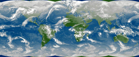 Figure 1: Improved representation of small-scale processes, such as clouds and convection, is of great importance for more accurate weather and climate modelling. Representation by random processes, known as stochastic parameterization, is a promising new approach in this area. Copyright 2008 EUMETSAT.