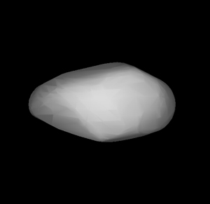 Figure 2: The reconstructed shape of asteroid 1862 Apollo, whose rotation speeds up due to sunlight.