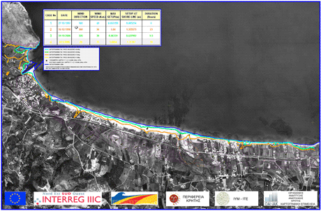 Figure 2: Flood map of a coastal area in north-western Crete extreme weather events.