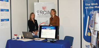 ERCIM booth at the conference.