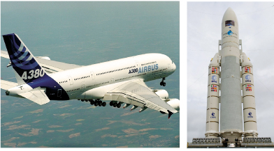 The TOPCASED software tools target Aerospace systems. Photos: Airbus (left), ESA (right).