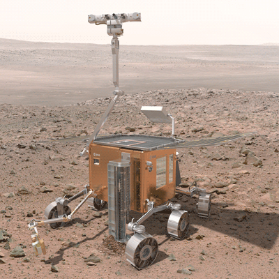 Figure 1: ExoMars rover - phase B1 concept (courtesy of ESA).
