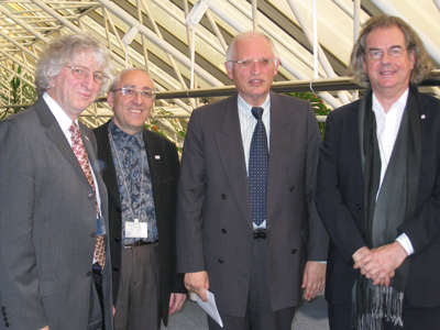 From left: Keith Jeffery (ERCIM President), Laurent Kott (INRIA Transfert), Günter Verheugen and Jérôme Chailloux (ERCIM Manager).