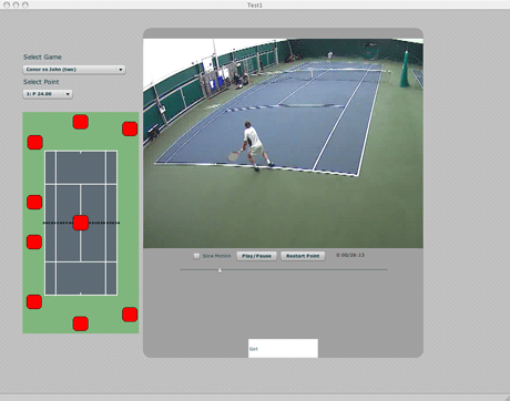 Figure 1: Coaching tool developed for Tennis Ireland.