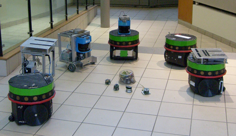 Figure 1: Robots at the CLARITY Centre for Sensor Web Technology.