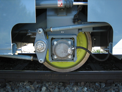 Figure 2. Force measurements from a train wheel.