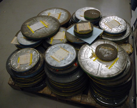 Figure 1: Film cans in a film archive.