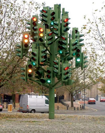 A 'special' traffic light in London