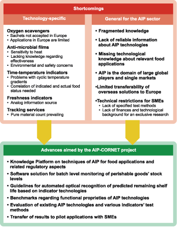 Problems addressed and goals pursued by the AIP-Competence Platform project.