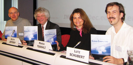 From left: Burkhard Neidecker-Lutz, Keith Jeffery, Maria Tsakali and Lutz Schubert.