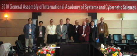 First general assembly of the International Academy of Systems and Cybernetic Sciences.