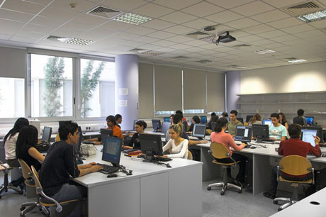Students at the Department of Computer Science.
