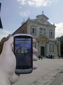 Figure 1: Tourist information on a smartphone.