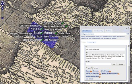 Figure 1: YUMA map annotation screenshot.