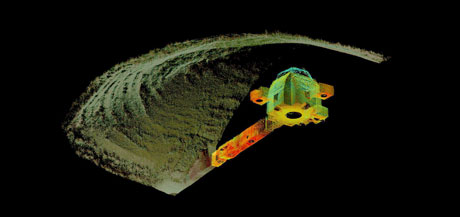 Figure 1: 3D point cloud rendering of Maes Howe from the Neolithic Orkney Scottish Ten project.