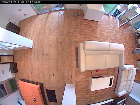 Figure 1: A picture of the CIAMI living lab taken from a camera on the ceiling.
