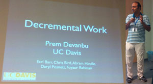 Invited speaker Prem Devanbu, from University of California at Davis