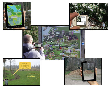 Figure 1: Using the augmented reality in the botanical garden