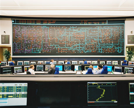 The Electricity National Control Centre for Great Britain. Photo: National Grid.