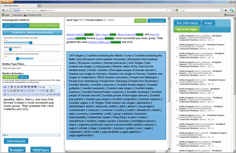 Figure 2: Screenshot of the AIDA user interface in a browser window