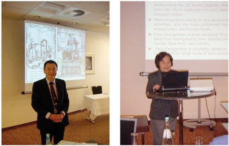 Prof. Patrick Wang (left) and Prof. Xiaoqing Ding