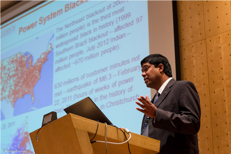 Figure 1: Professor Kumar Venayagamoorthy's keynote address