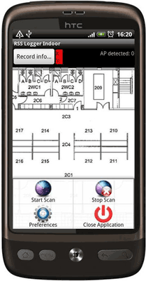 Figure 2: Screenshot of the Airplace indoor mapping interface for Android